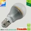 110v/220v G60 shape, dimmable 6W e27 led globe bulb light