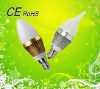 2012 1w/3w e14 led candle bulb with excellent heak dissipation
