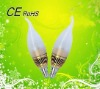 2012 Top-selling Golden 3w led candle bulb with E14 base