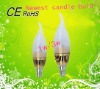 2012 decorative led candle light bulb 1w/3w with E14 base