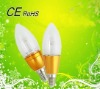 2012 factory direct sale golden led candle bulb 1w with two year warranty