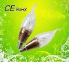 2012 high quality led candle lamps chandeliers 1w 3w with CE&RoHS