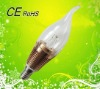 2012 led candle bulb e14 for crystal lighting, two years warranty