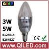 3*1w led candle bulb