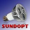 3W 6000K base e17 led spotlight 230v