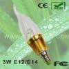 3W Candle LED Bulb With E12/E14/E27 Base