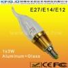 3W LED Candle Bulbs With E12/E14/E27 Base