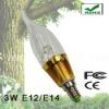 3W LED Candle Light Bulb With E12/E14/E27 Base