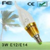 3W LED Candleabra Bulb With E12/E14/E27 Base