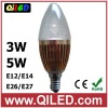 3w led candle light bulb