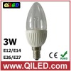 3w led chandelier candle light bulbs