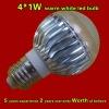 4*1W CE approved warm white led light(B-401WW)