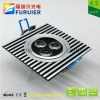 4.5W/3*1W 110v/220v square led ceiling/under cabinet light