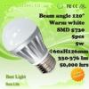 5W amber color led lampen bulbs for house lighting