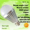 5W high brightness led globe bulb