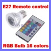 Aluminium 16 Color LED RGB bulb Remote control Spot Light
