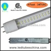 CSA Certified 347VAC t8 led light tube with Single Side Input