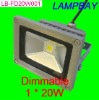 Dimmable LED high lumens high power 20W floodlight lamp warm white natrual white cold white 100-240Vac waterproof lamp