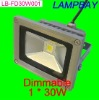 Dimmable LED high lumens high power 30W floodlight lamp warm white natrual white cold white 100-240Vac waterproof lamp