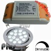 Dimmable led driver for 12v led downlight bulbs (CE, ROHS, FCC approved)