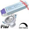 Dimmable led driver for 3*1w led ceiling light (CE, ROHS, FCC approved)