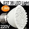 Dropshipping --Wholesale E27 38 LED Bulb Light CE&ROHS