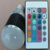 E27 LED 5W rgb bulb for music application