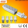 G24 6w plc led lamp with lamp bases G24 GX24 G23 GX23 E27 B22 (driver replaceable, CE & RoHS) M