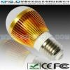 Golden Color 3W LED Light Bulb With E27 Base
