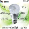 High brightness sharp COB DIM 5W E26 LED bulb lamp