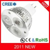 High lumen MR16 led lighting 9w with 3 CREE chips