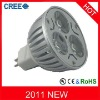 High power MR16 9w led lighting with 3 CREE chips