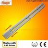 High power factor 2G11 led tube with replaceable led driver M
