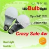 High quality 4 watt led bulb