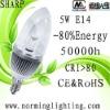 Hot sell sharp COB 5W E14 LED lightS