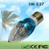 Low Power 3W LED Candle Bulb with E27 Base