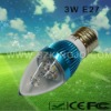 Low Power 3W LED Candle Lamp with E27 Base