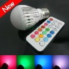 New!6W RGB LED BULB LIGHT chagneing color factory sale