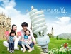 T4 half spiral electric energy saving bulb cfl