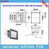 dc 12v 24v 30w led floodlight