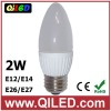 e27 e12 e14 clear led candle bulb