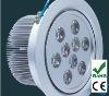 high power 12v 9w round flat ceiling downlight led light