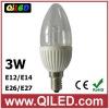 indoor e14 led candle bulb 3w