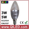 indoor led clear candle light e14 3w