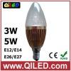 led candle bulb e14 3w with lens