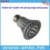 par20 7w 400-450lm dimmable led spoting light